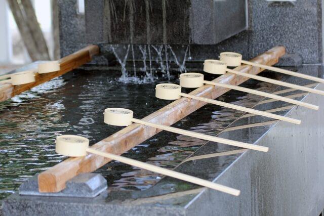 神社参拝 手水舎