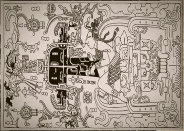 パカル王 石棺 横