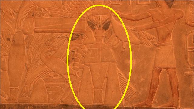 サッカラ遺跡 壁画 印