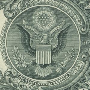 1ドル札 鷲