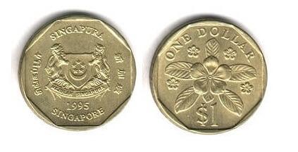 シンガポール 旧1ドル硬貨