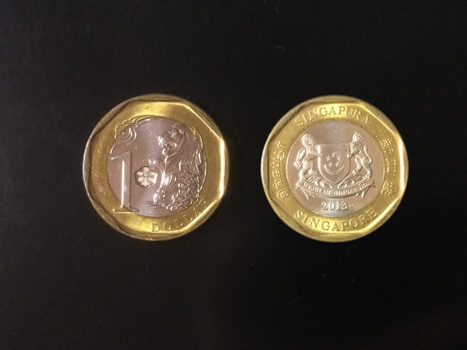シンガポール 1ドル硬貨