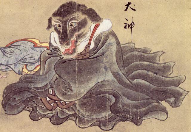 稲荷 参拝 犬神