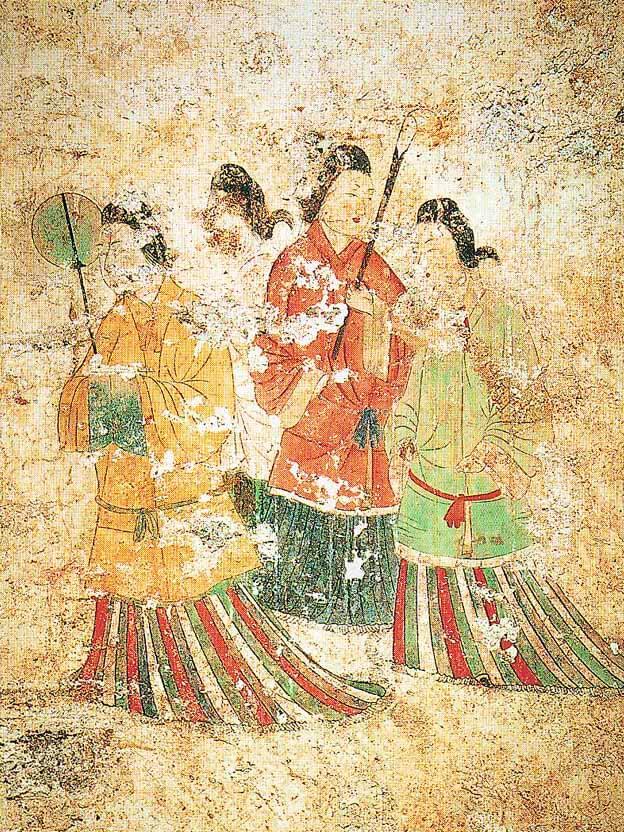 高松塚古墳 女子群像