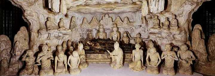 法隆寺 五重塔初層安置の塑像群