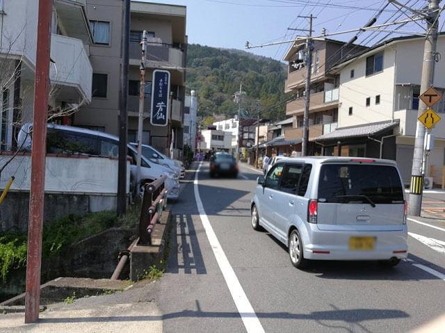 法輪寺 バス道