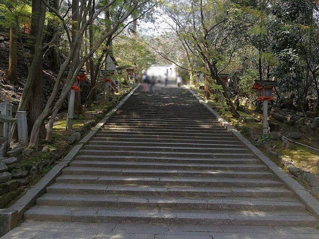 法輪寺 石段