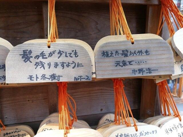 御髪神社 絵馬 モト冬樹